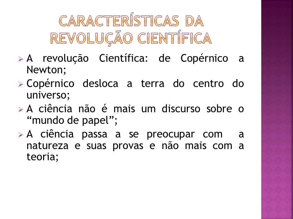 Características da Revolução Científica