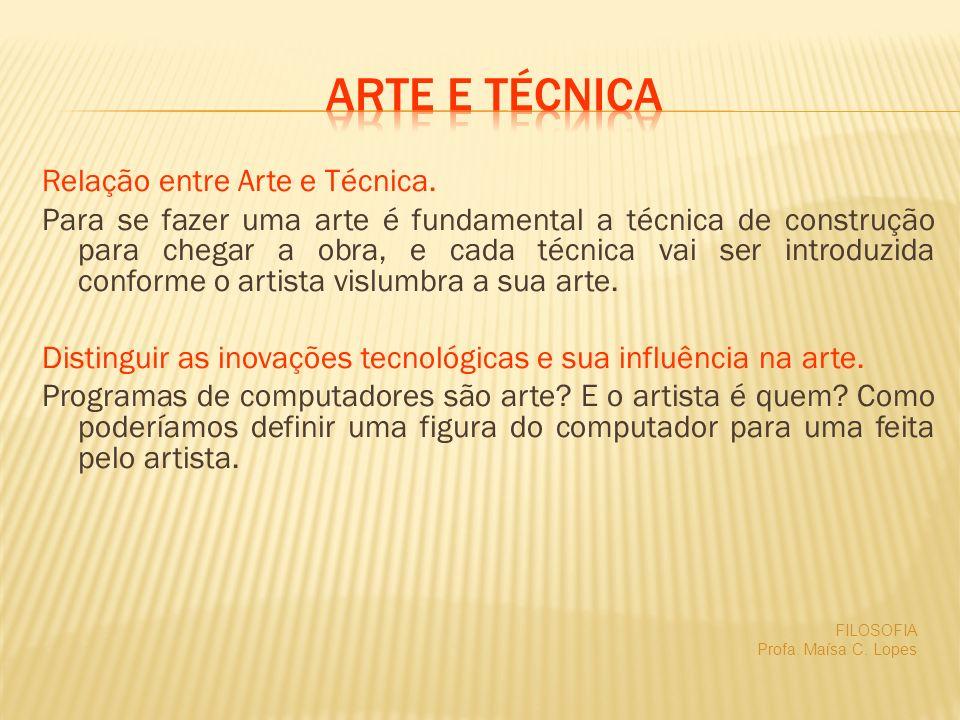Arte e técnica