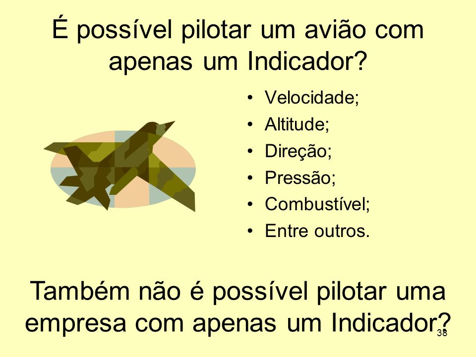 É possível pilotar um avião com apenas um Indicador