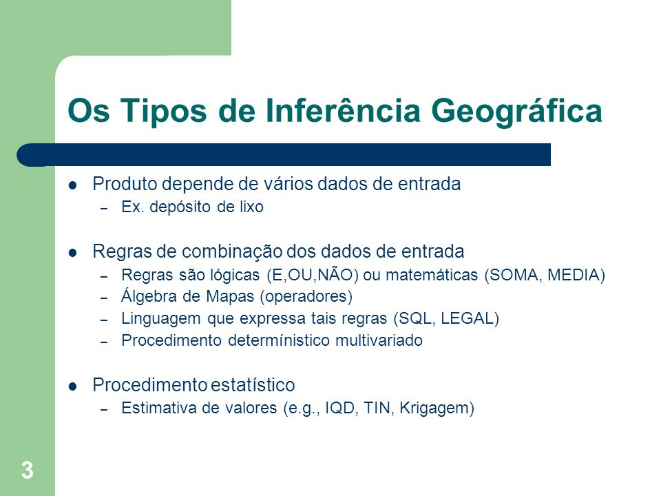 Os Tipos de Inferência Geográfica