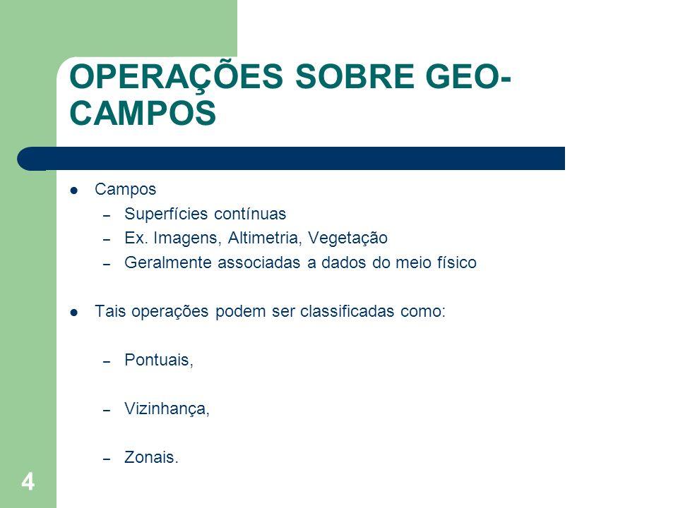 OPERAÇÕES SOBRE GEO-CAMPOS