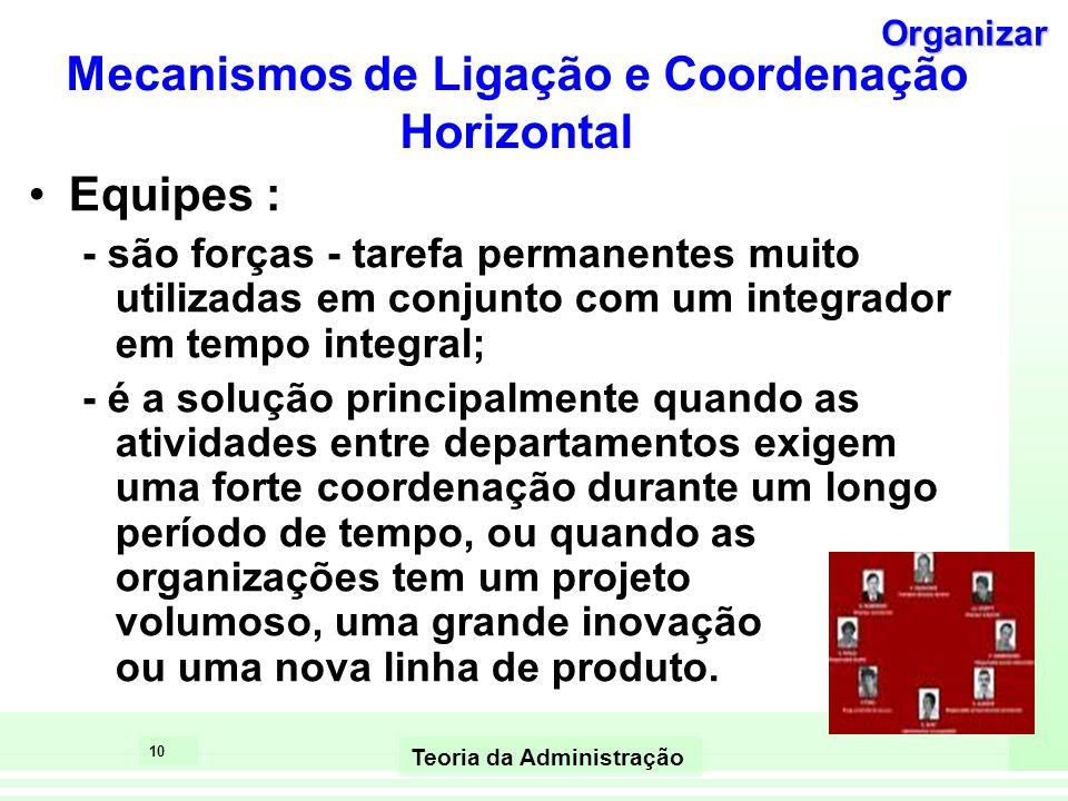Mecanismos de Ligação e Coordenação Horizontal