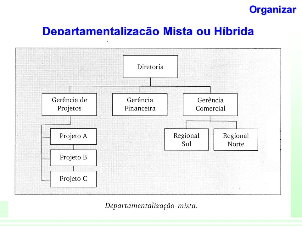 Departamentalização Mista ou Híbrida