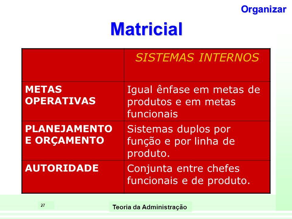 Matricial SISTEMAS INTERNOS