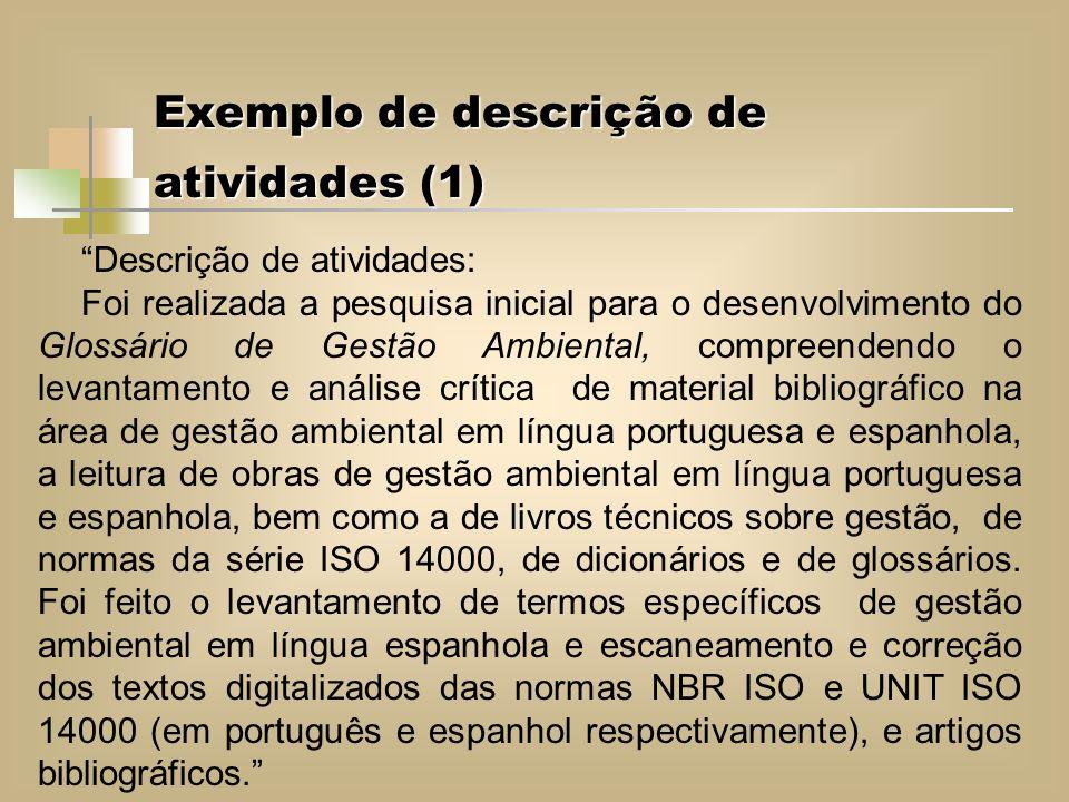 Exemplo de descrição de atividades (1)