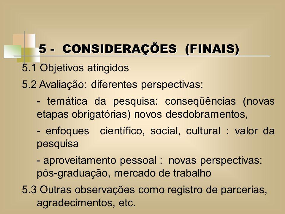 5 - CONSIDERAÇÕES (FINAIS)
