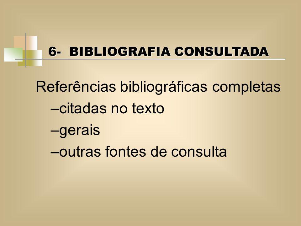 Referências bibliográficas completas citadas no texto gerais