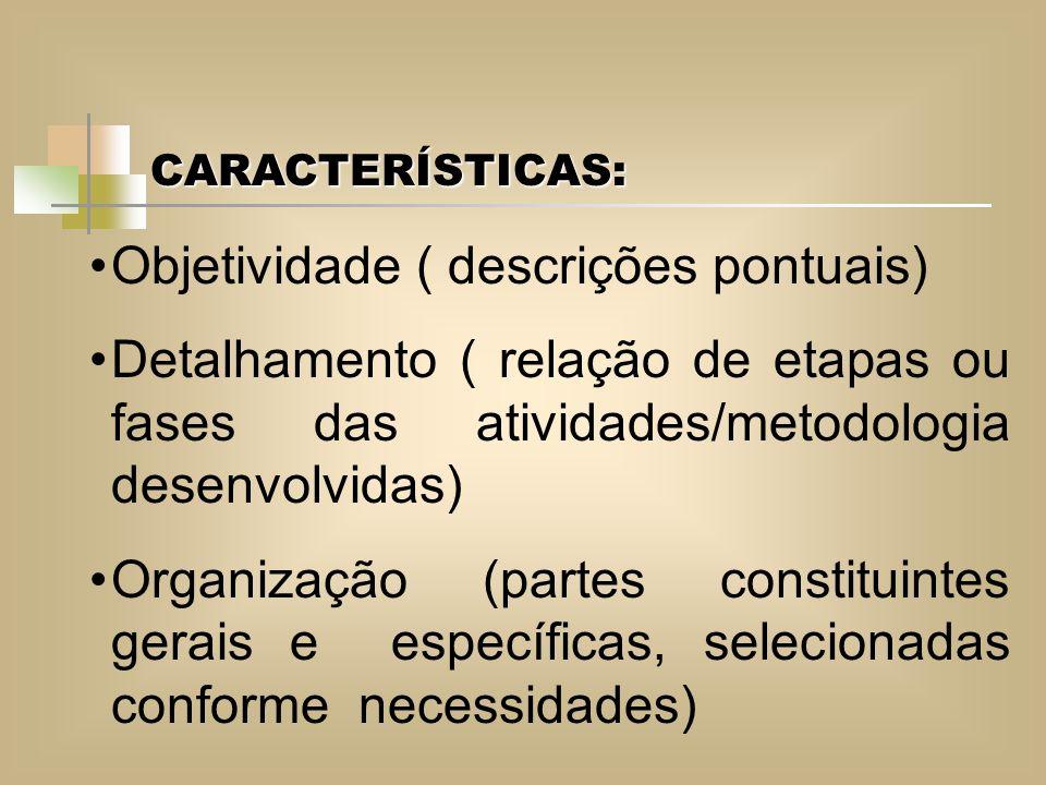 Objetividade ( descrições pontuais)
