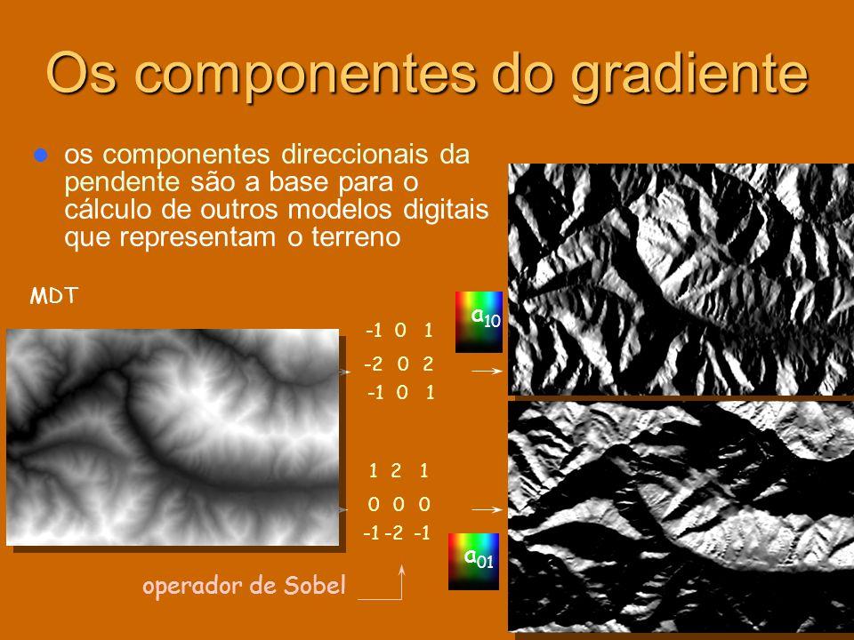 Os componentes do gradiente