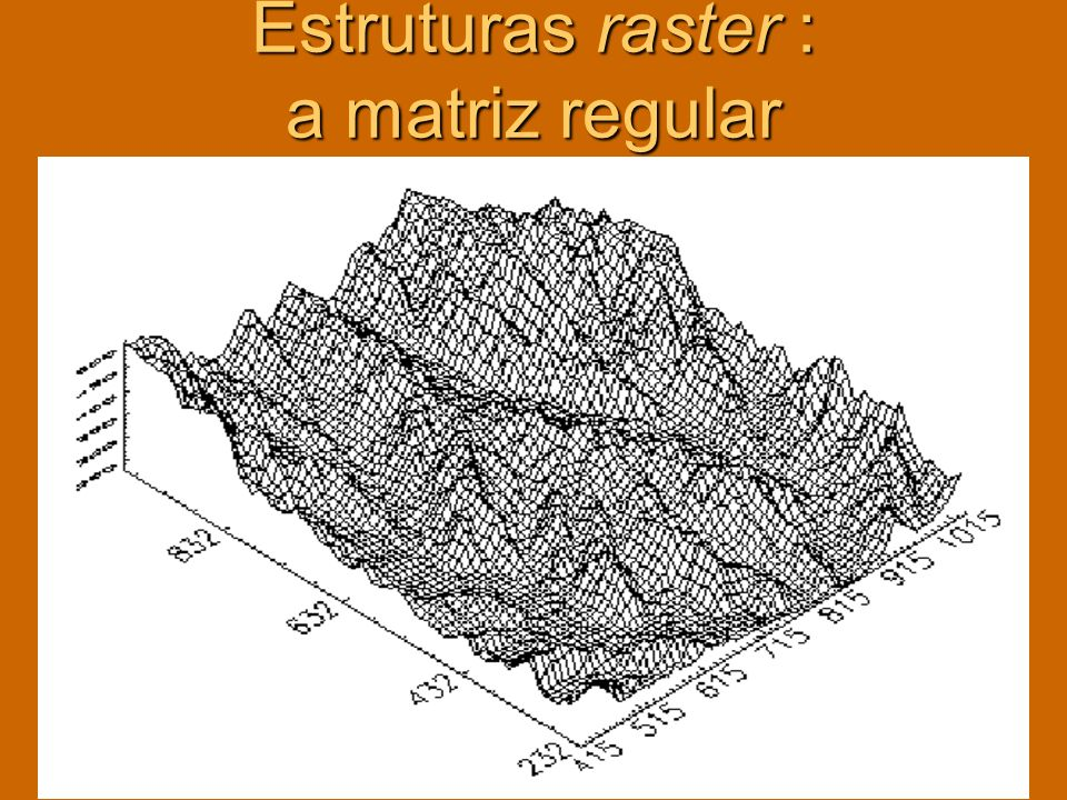 Estruturas raster : a matriz regular