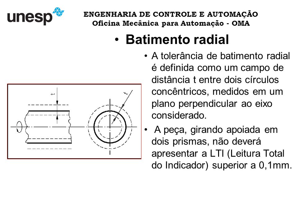 ENGENHARIA DE CONTROLE E AUTOMAÇÃO Oficina Mecânica para Automação - OMA
