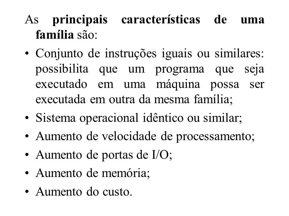 As principais características de uma família são: