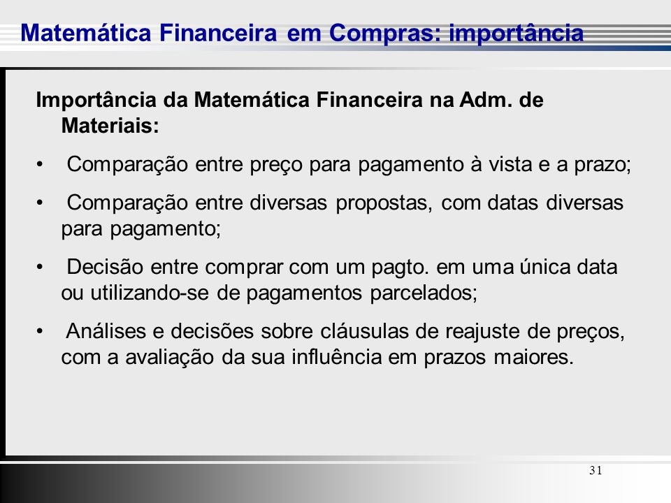 Matemática Financeira em Compras: importância
