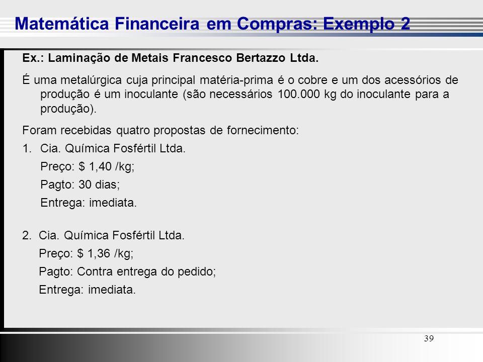Matemática Financeira em Compras: Exemplo 2