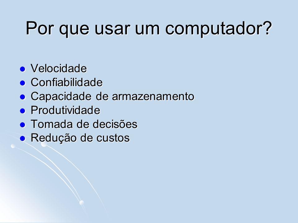 Por que usar um computador