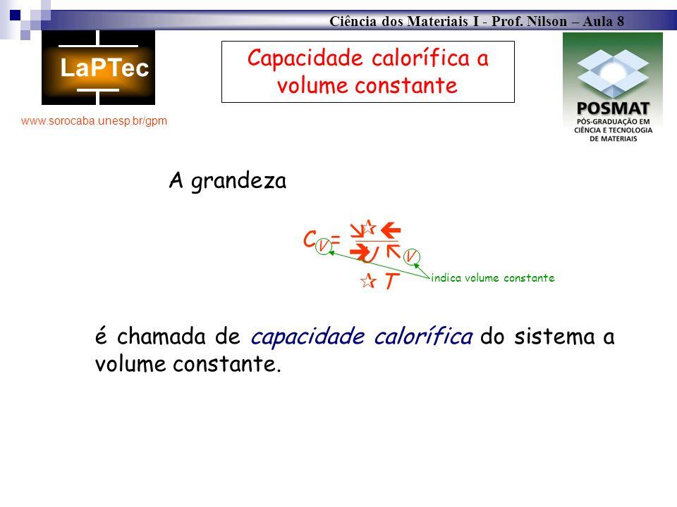 Capacidade calorífica a volume constante