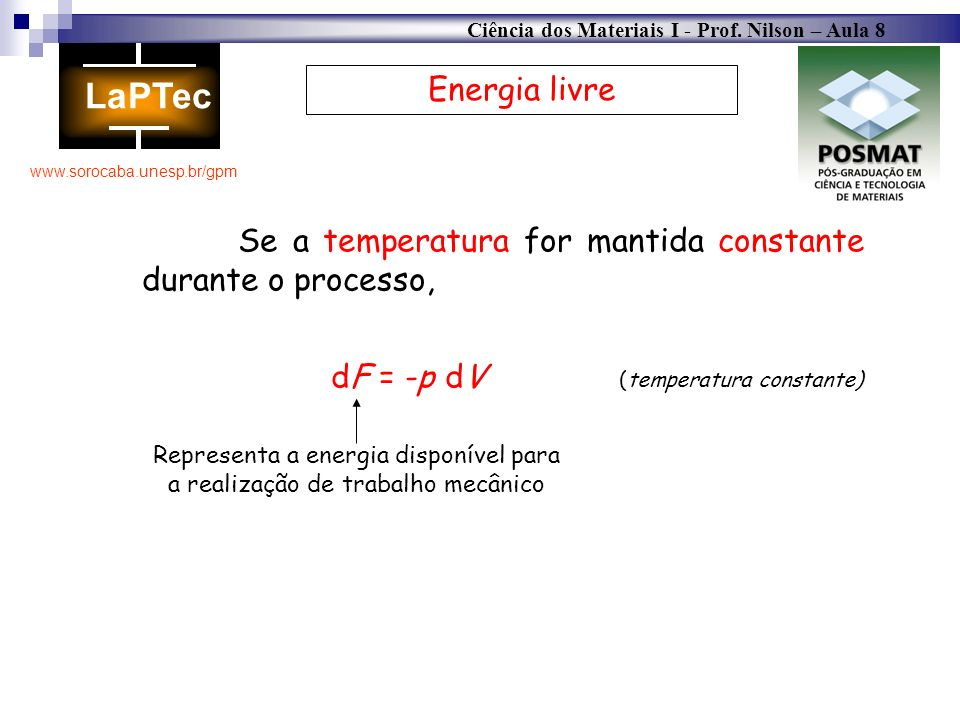 Representa a energia disponível para a realização de trabalho mecânico