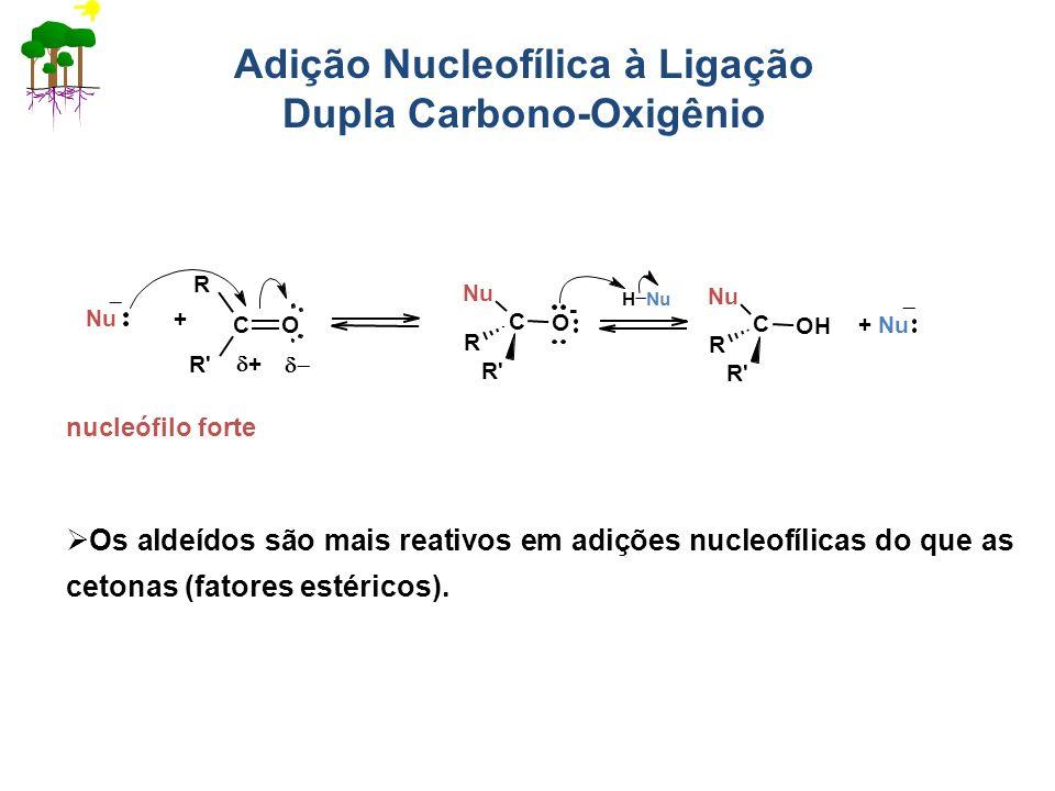 Adição Nucleofílica à Ligação Dupla Carbono-Oxigênio