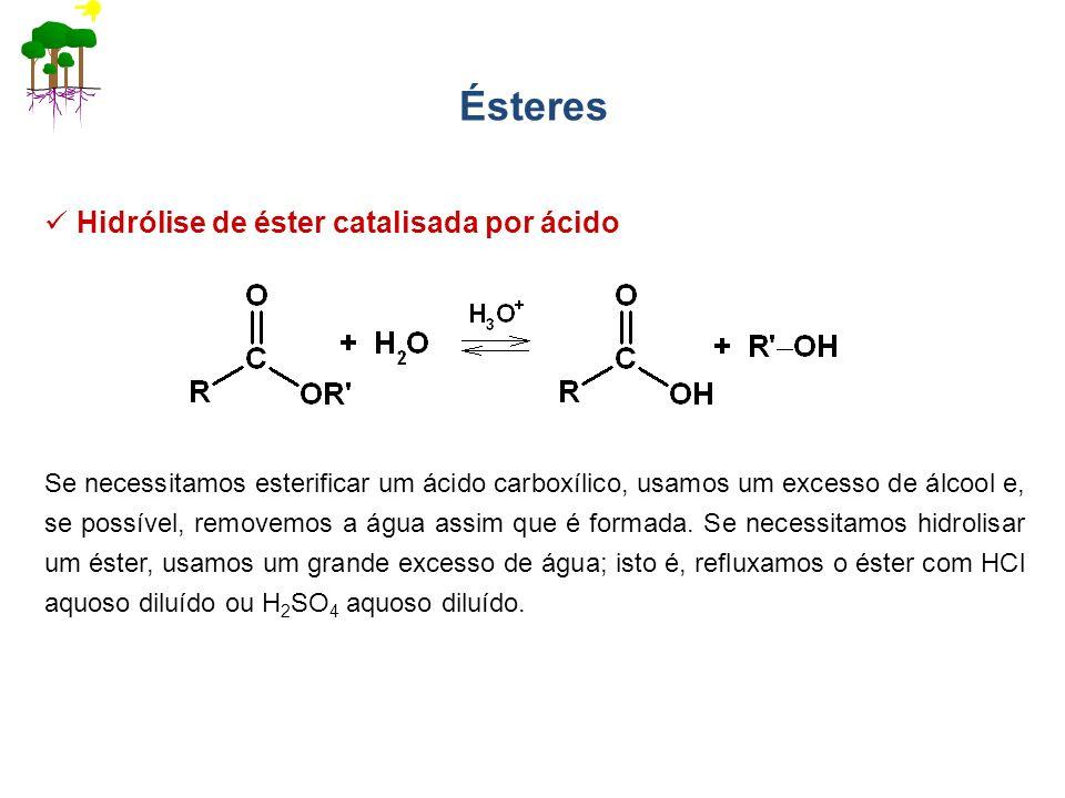 Ésteres Hidrólise de éster catalisada por ácido