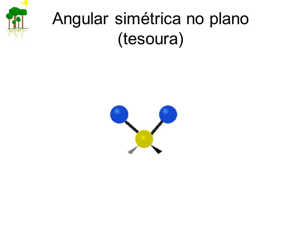 Angular simétrica no plano (tesoura)