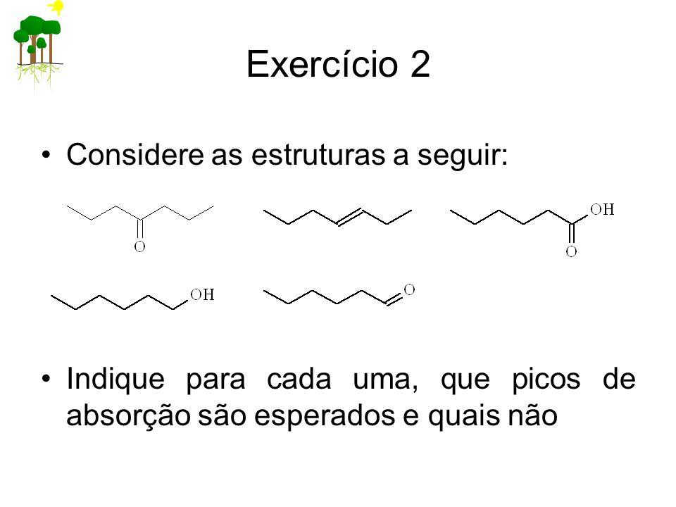 Exercício 2 Considere as estruturas a seguir: