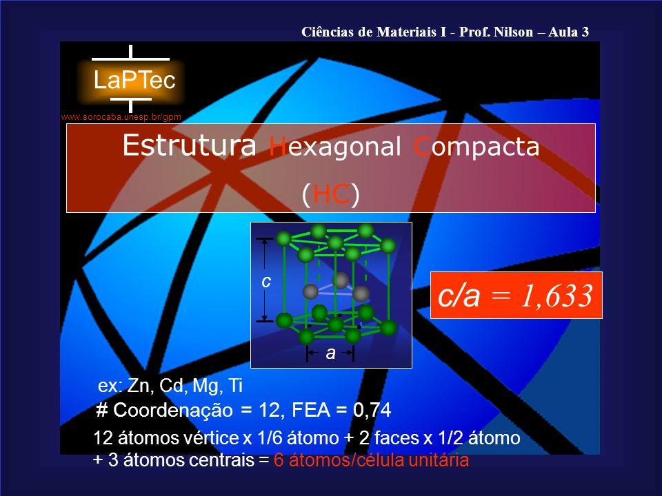 Estrutura Hexagonal Compacta