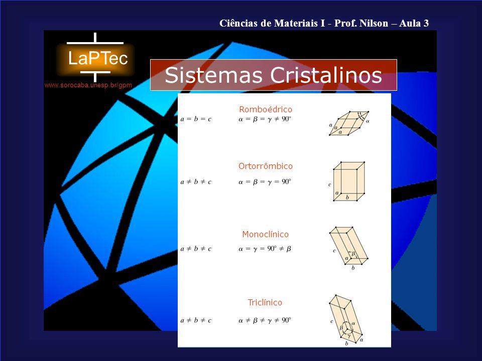 Sistemas Cristalinos Romboédrico Ortorrômbico Monoclínico Triclínico