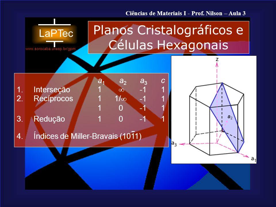 Planos Cristalográficos e Células Hexagonais