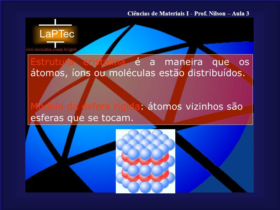 Estrutura cristalina é a maneira que os átomos, íons ou moléculas estão distribuídos.