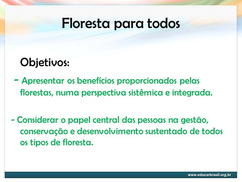 Floresta para todos Objetivos: