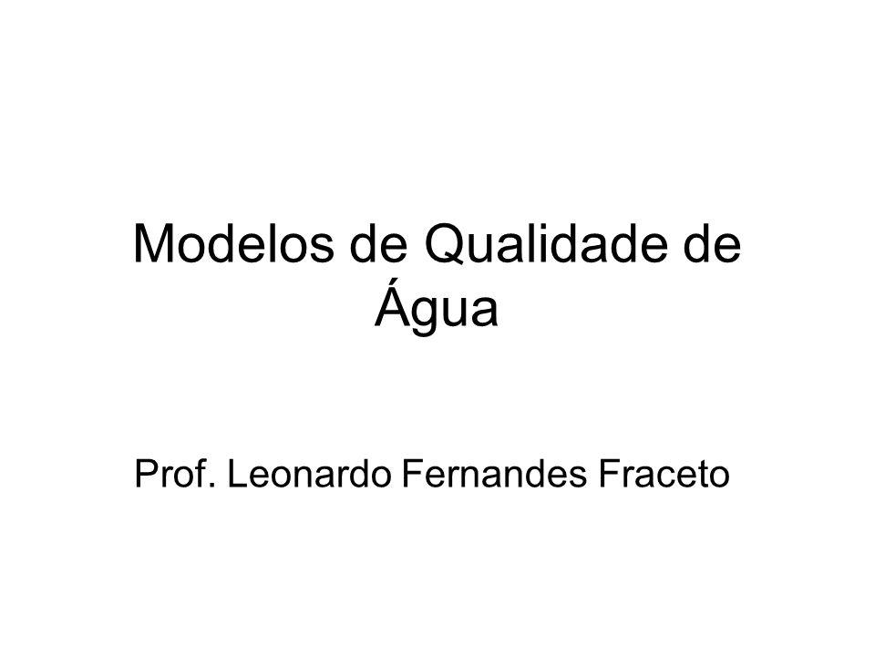 Modelos de Qualidade de Água