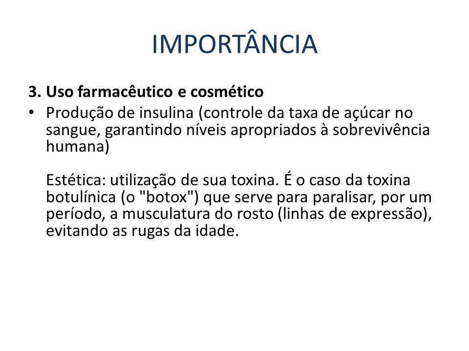 IMPORTÂNCIA 3. Uso farmacêutico e cosmético