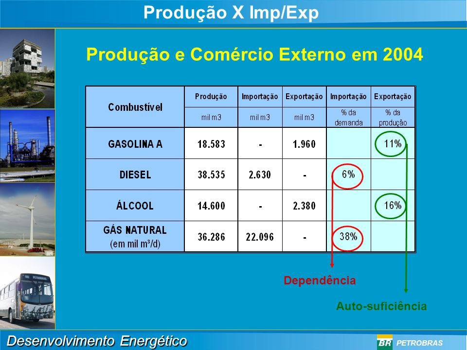 Produção e Comércio Externo em 2004