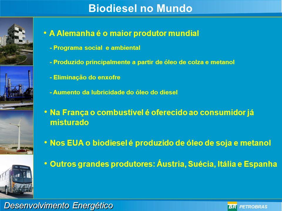 Biodiesel no Mundo A Alemanha é o maior produtor mundial