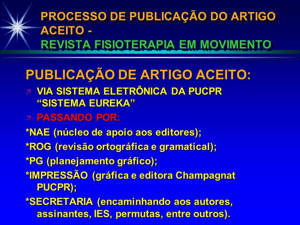 PUBLICAÇÃO DE ARTIGO ACEITO: