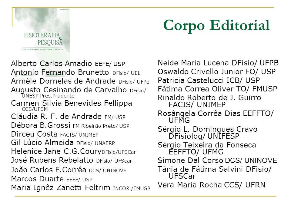 Corpo Editorial Alberto Carlos Amadio EEFE/ USP