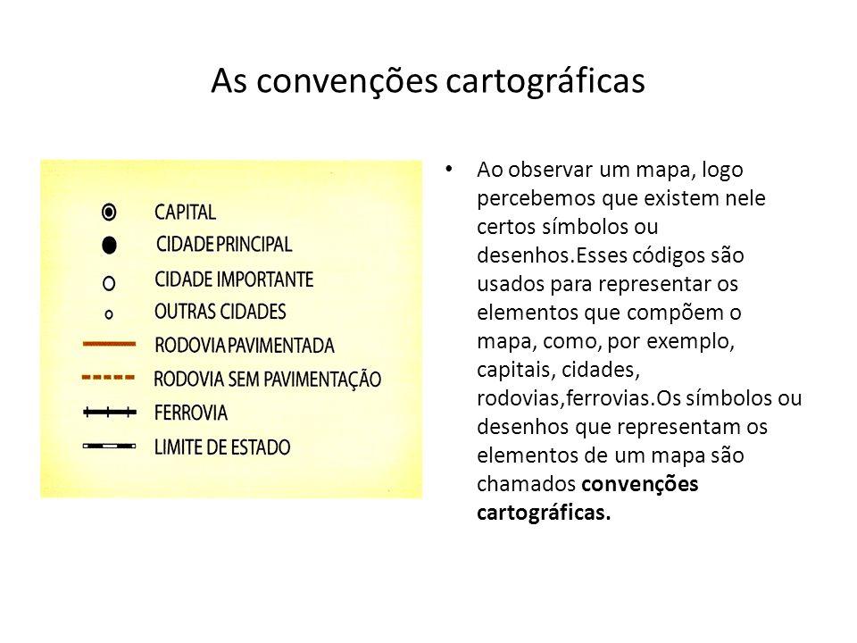 As convenções cartográficas