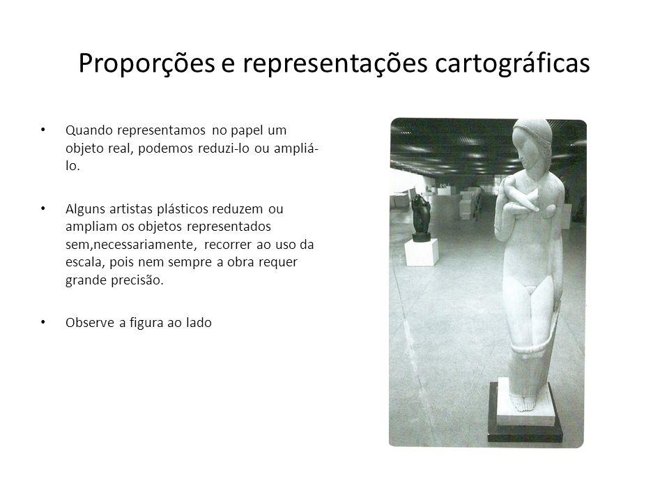 Proporções e representações cartográficas