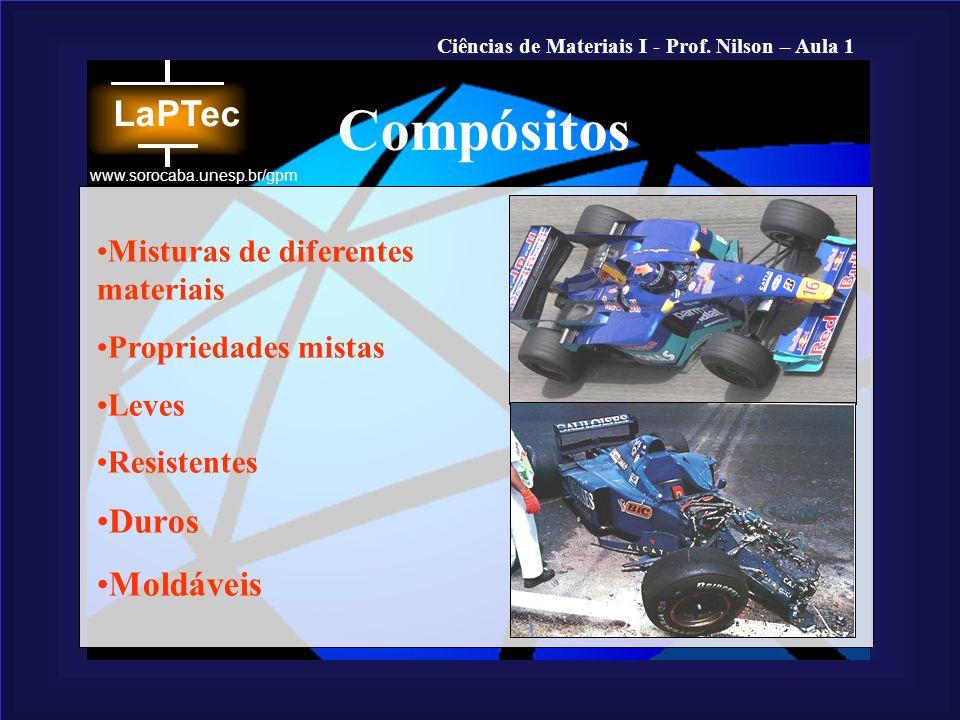 Compósitos Duros Moldáveis Misturas de diferentes materiais