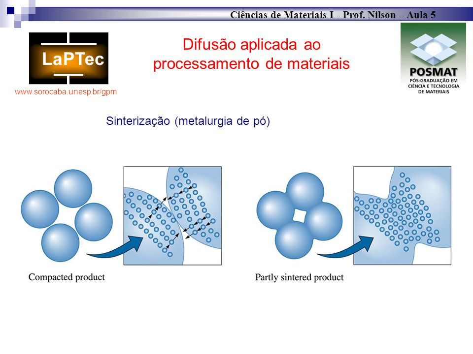 Difusão aplicada ao processamento de materiais