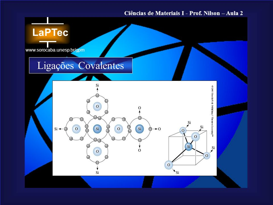 Ligações Covalentes © 2003 Brooks/Cole Publishing / Thomson Learning™