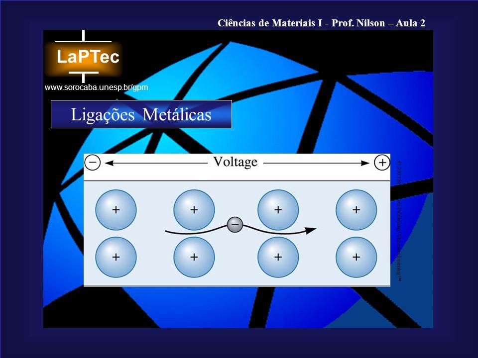 Ligações Metálicas © 2003 Brooks/Cole Publishing / Thomson Learning™