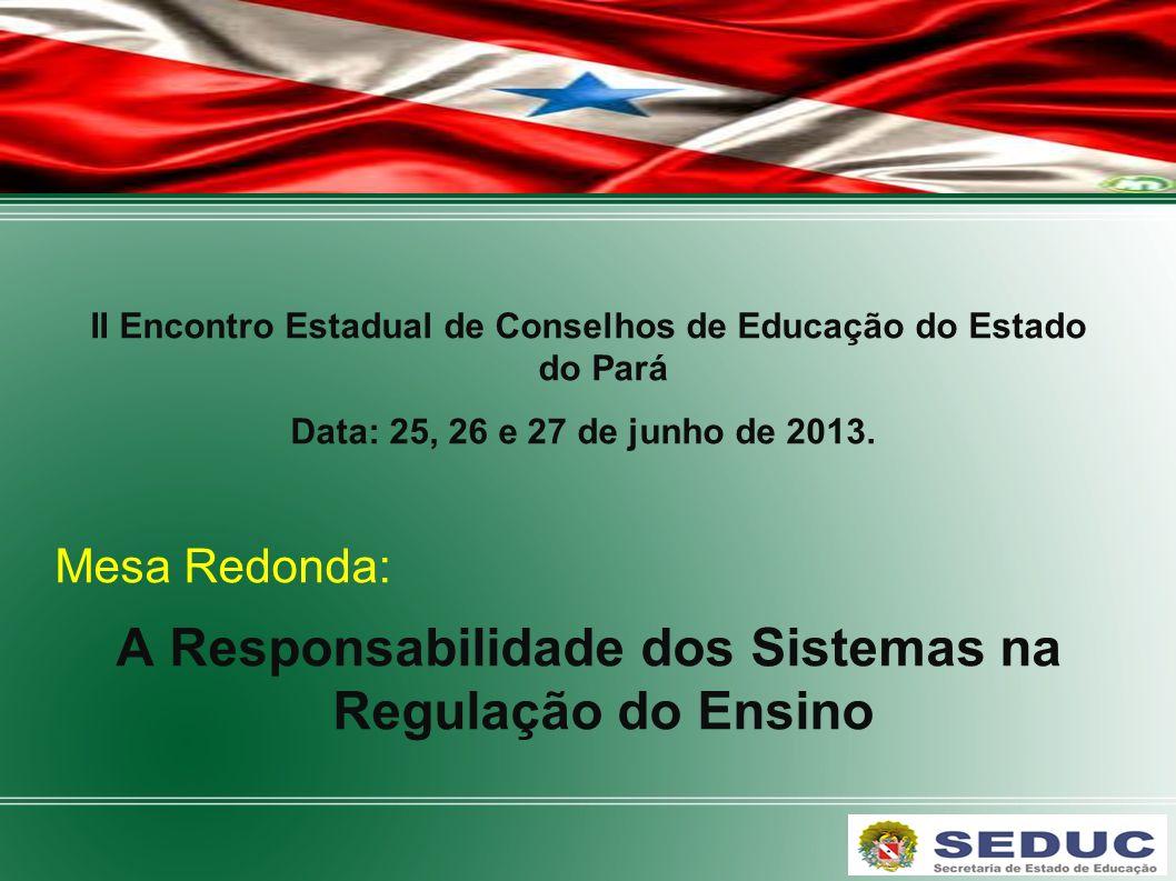 A Responsabilidade dos Sistemas na Regulação do Ensino