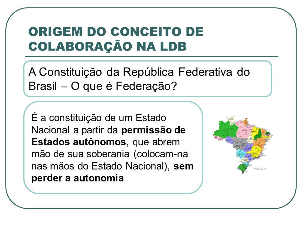 ORIGEM DO CONCEITO DE COLABORAÇÃO NA LDB