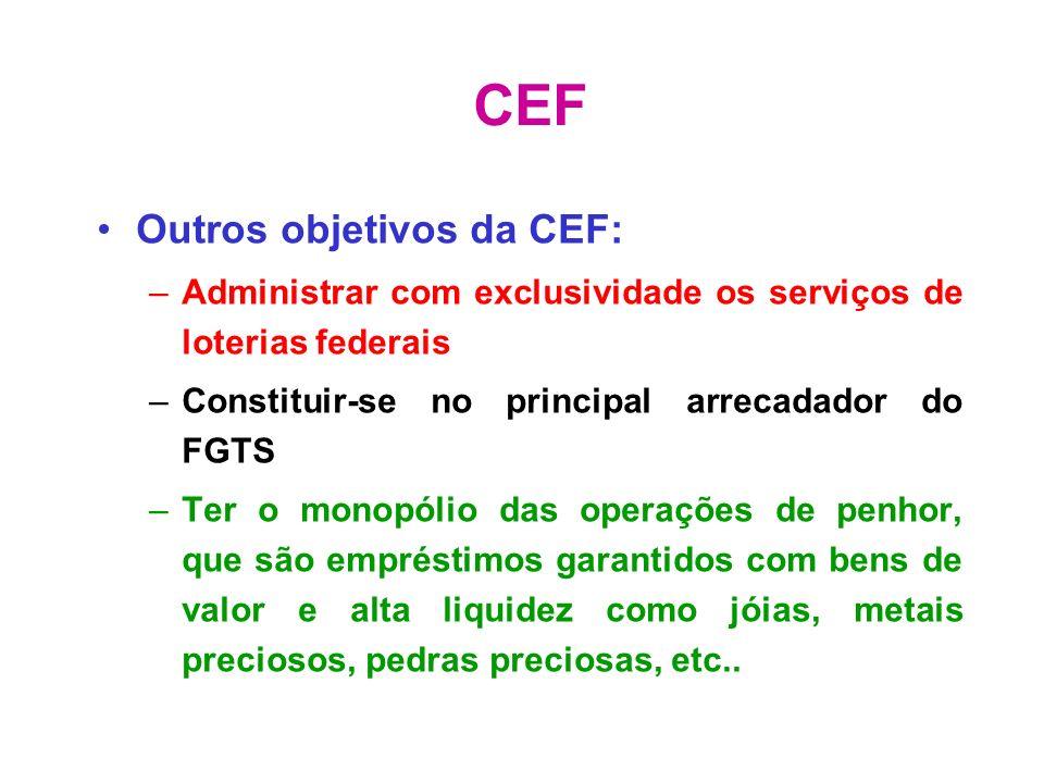 CEF Outros objetivos da CEF: