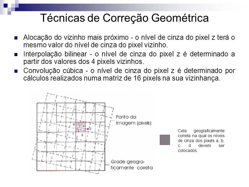 Técnicas de Correção Geométrica