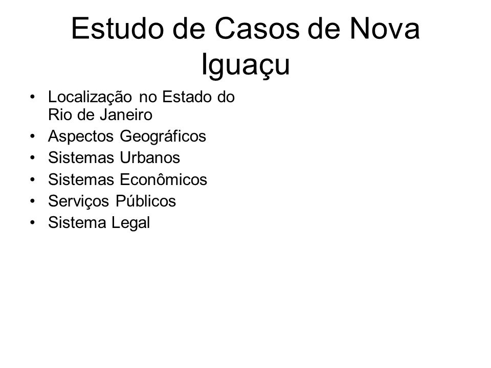 Estudo de Casos de Nova Iguaçu
