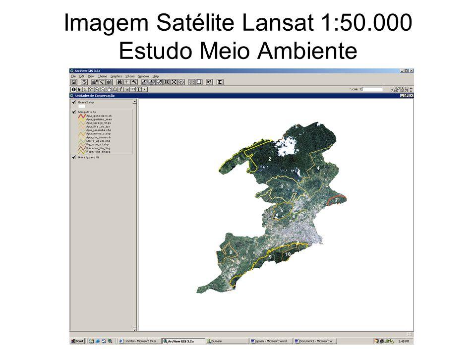 Imagem Satélite Lansat 1:50.000 Estudo Meio Ambiente