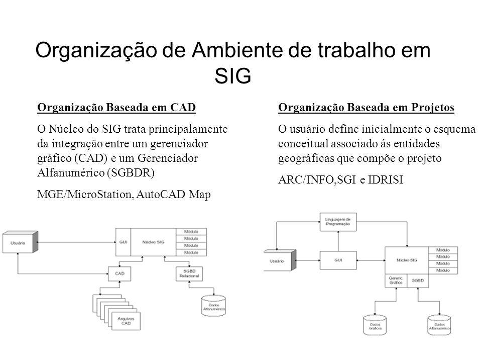 Organização de Ambiente de trabalho em SIG