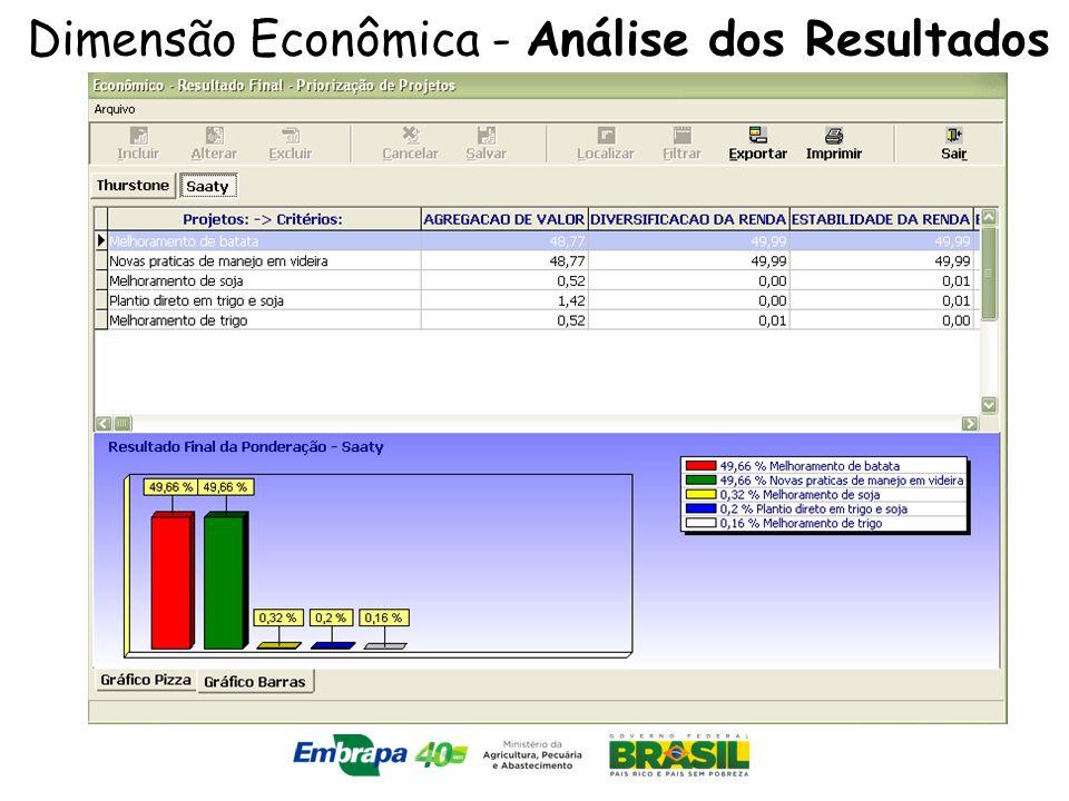 Dimensão Econômica - Análise dos Resultados